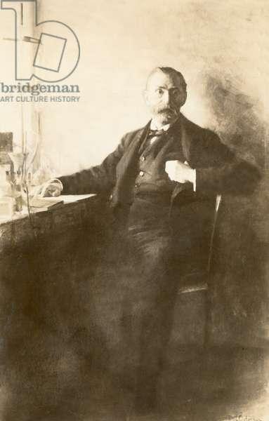 ALFRED NOBEL, scientist and founder of Nobel Prize awards, 1915