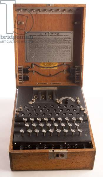 Enigma, the German cipher machine created codes for sending messages during World War 2. Using early computers, Allied intelligence at Benchley Park decoded only 10% of Enigma communications in 1945