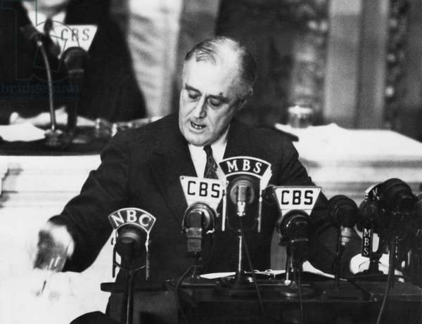 President Franklin D. Roosevelt, addressing Congress, 1939