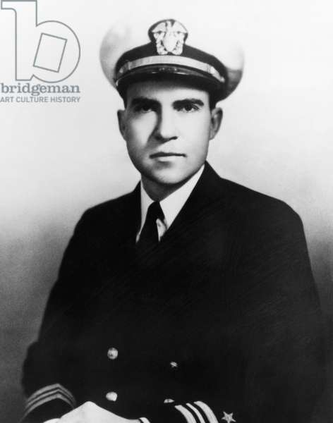Richard Nixon. Navy lieutenant (and future US President) Richard Nixon, 1945