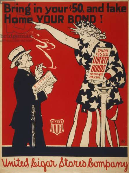 Bring in your, and take home your bond! Third issue Liberty Bonds paying 4 1/4 per cent, 1918 (poster)