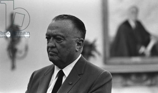 FBI Director, J. Edgar Hoover, in an Oval Office meeting on July 24, 1967