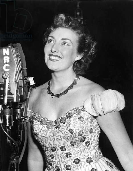VERA LYNN, appearing on the radio program, THE BIG SHOW, on N.B.C., January, 1952.