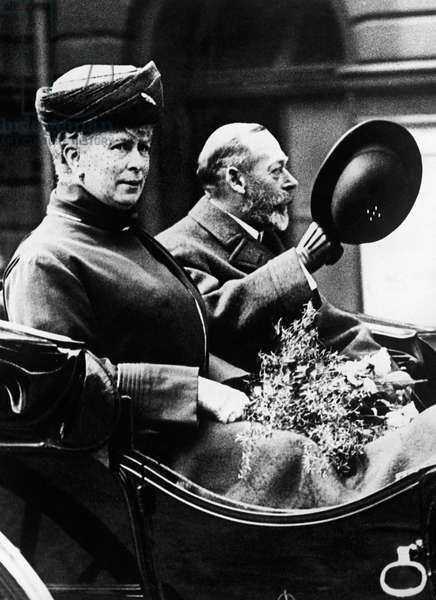 British Royalty. Queen Mary of Teck and King George V of England, London, England, c.1920s