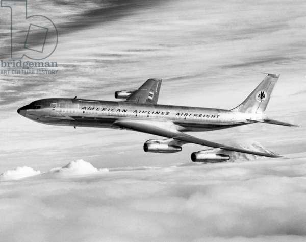 American Airline's Boeing Astrojet in flight, 1964