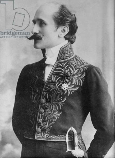 Edmond Rostand (1868-1918) French playwright, one of the last to use Romantic style, best known for