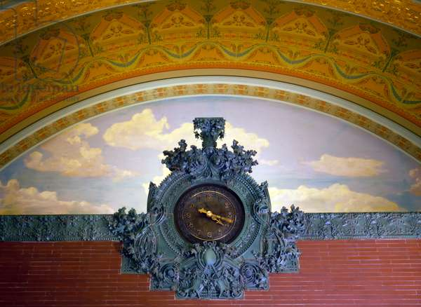 Wall Clock, National Farmers Bank of Owatonna. Designed by architect Louis Sullivan. Owatonna, MN c. 1907