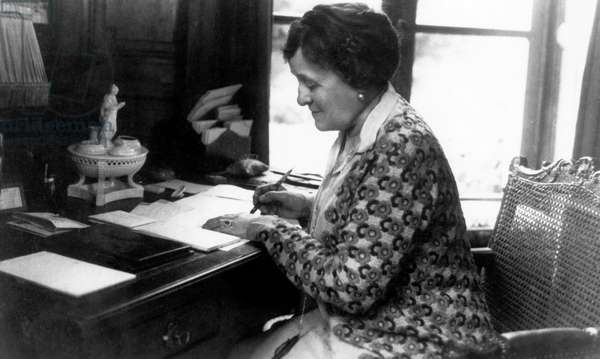 Edith Wharton, (1862-1937), American Novelist, at Pavillion Colombe, c.1930s