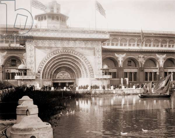Louis Sullivan (1856-1924), was among the architects commissioned to design buildings for the World's Columbian Exposition, Chicago. He used a modern decorative elements on the Transportation Building, instead of the traditional classical vocabulary from Greco-Roman architecture