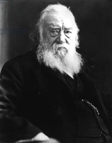 Telephone inventor Alexander Graham Bell (1847-1922), undated portrait