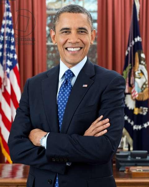 President Barack Obama's Official second term portrait. White House, Oval Office, Dec. 6, 2012