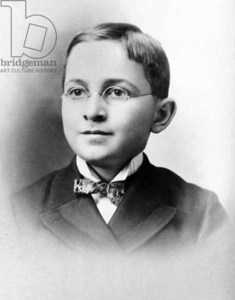 Harry Truman as a schoolboy. c. 1892