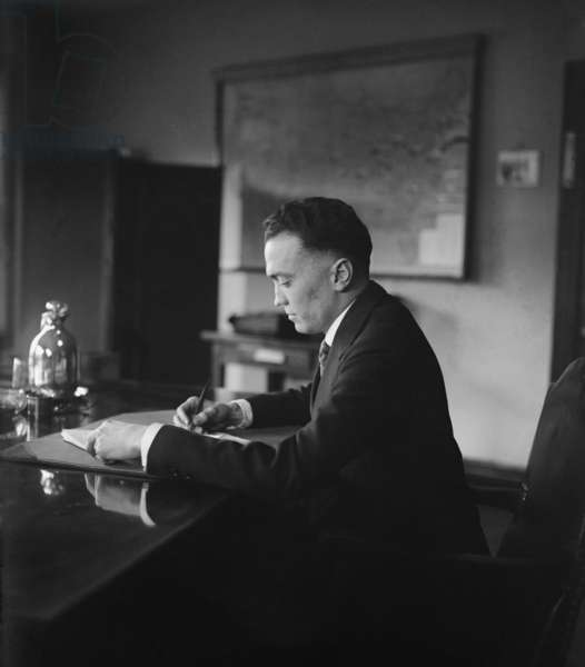 J. Edgar Hoover (1895-1972), as director of the Bureau of Investigation in 1924. Under his leadership the Bureau became the FBI in 1935, which he headed until his death in 1972. Photo taken Dec. 22, 1924