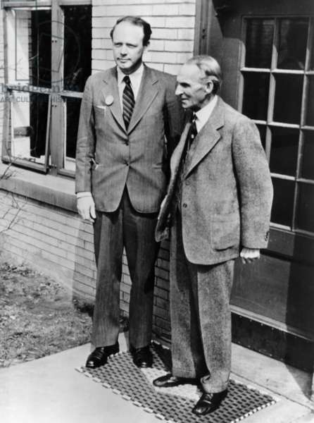 Pilot Charles Lindberg and Henry Ford. c. 1942