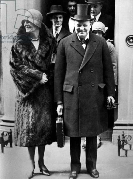Winston Churchill and his wife, Clementine, 1964