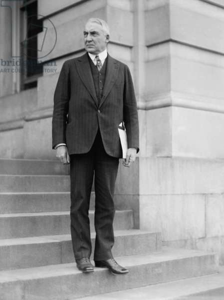 Senator Warren Harding on the steps of the U.S. Capitol, c. 1918-1920