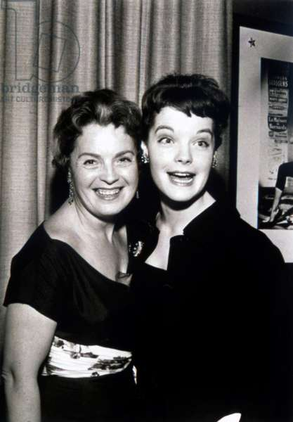 Romy Schneider and Mother Magda, 1940s