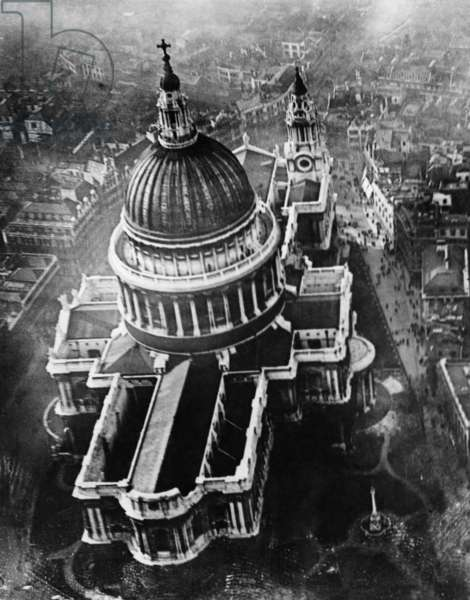 St. Paul's Cathedral, London, during World War II