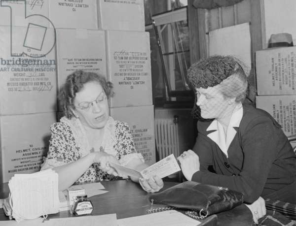 Sugar ration applicant was issued her ration card in May 1942. Washington, D.C., during World War 2, May 1942