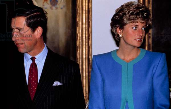 PRINCESS/LADY DIANA SPENCER, with PRINCE CHARLES, date unknown