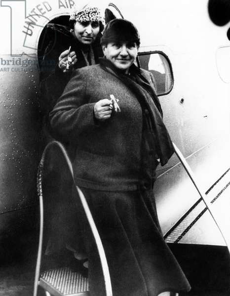 Alice B. Toklas (back), and Gertrude Stein, c.1937.