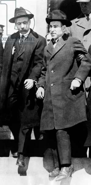 Nicola Sacco, and Bartolomeo Vanzetti, Italian anarchists prior to their execution for murder and robbery in Boston Massachusetts, c.1926