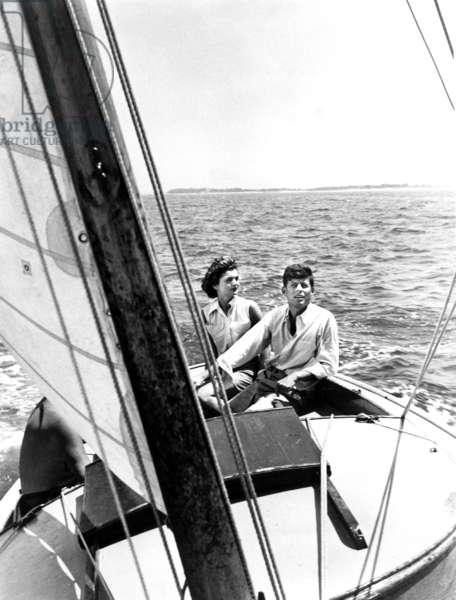 John F. Jennedy and Jacqueline Kennedy, 1950s
