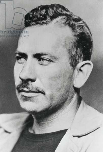 John Steinbeck, American author won the 1962 Nobel Prize in Literature. Among the 18 films based on his works are: OF MICE AND MEN, 1939 & 1992; THE GRAPES OF WRATH, 1940; LIFEBOAT, 1944; and EAST OF EDEN, 1955