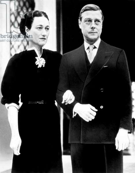 Edward Duke of Windsor, with the Duchess of Windsor (aka Wallis Simpson), c.late 1930s