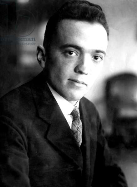 J. Edgar Hoover, founder of the Federal Bureau of Investigation. ca 1920s
