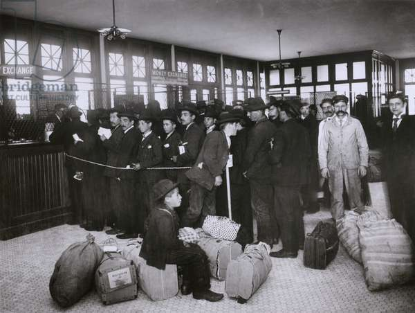 Ellis Island provided new immigrants with services to prevent their exploitation by dishonest moneychangers. The Money Exchange converted their currencies without charge. c. 1910