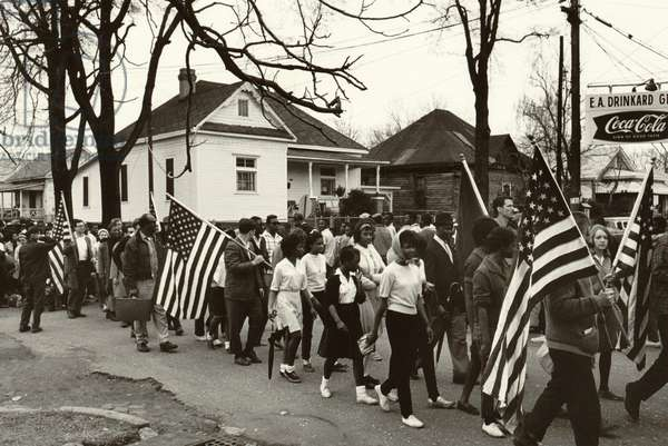 Civil Rights, the freedom march from Selma to Montgomery, Alabama in 1965. Photo by Peter Pettus, 1965