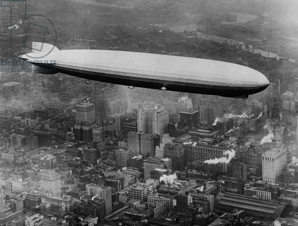 The LZ 129 Graf Zeppelin, over Philadelphia, Pennsylvania, October 16, 1928