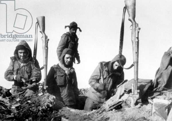 Korean War: French soldiers, Korean War, Korea, 1951.