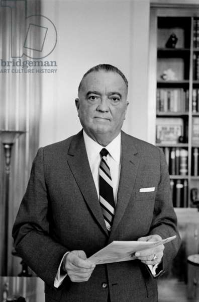 Edgar J. Hoover Director of the FBI in 1961