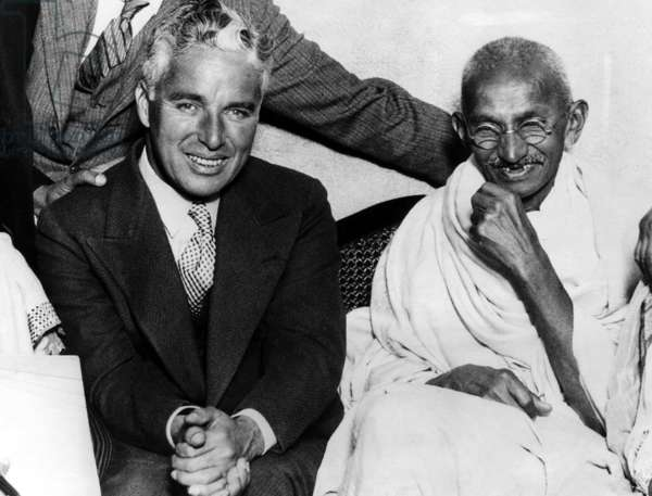 Charlie Chaplin and Mahatma Gandhi, London, England, September 22, 1931