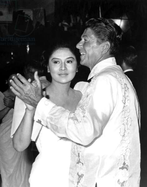 Imelda Marcos dancing with Ronald Reagan