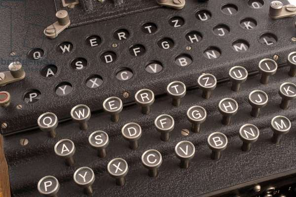Enigma, the German cipher machine created for sending messages during World War 2. Enigma's settings offered 150,000,000,000,000,000,000 possible encryptions