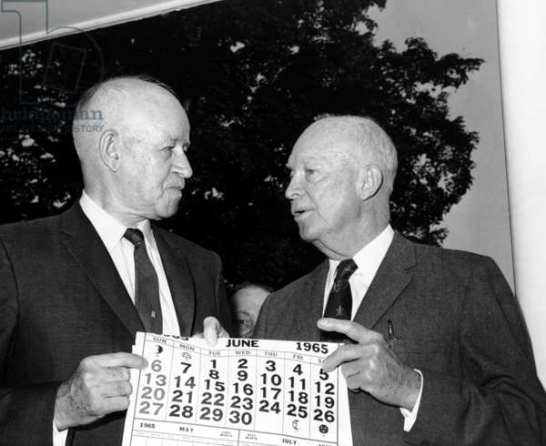 General Omar N. Bradley with, General Dwight D. Eisenhower, 1965