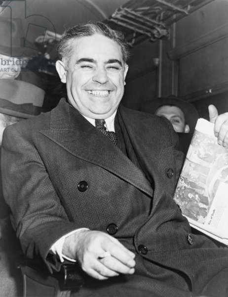 Louis Capone (1896-1944), hitman of Murder, Inc. smiling after his conviction for the 1936 murder of Joseph Rosen. Capone, no relation to Al Capone, was executed at Sing Sing Prison on March 4, 1944