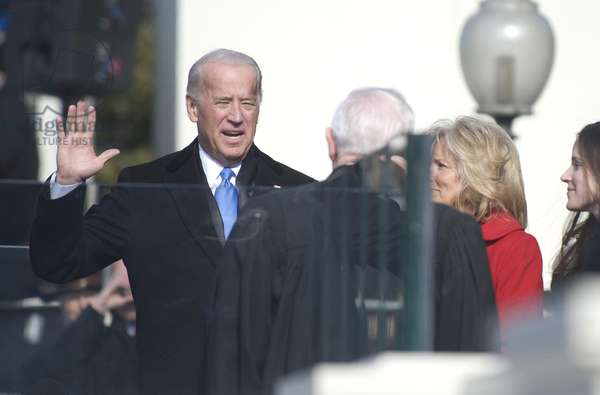 Vice President Joe Biden takes the oath of office at the 56th Presidential Inauguration. Jan. 20 2009. (BSWH_2011_8_198)