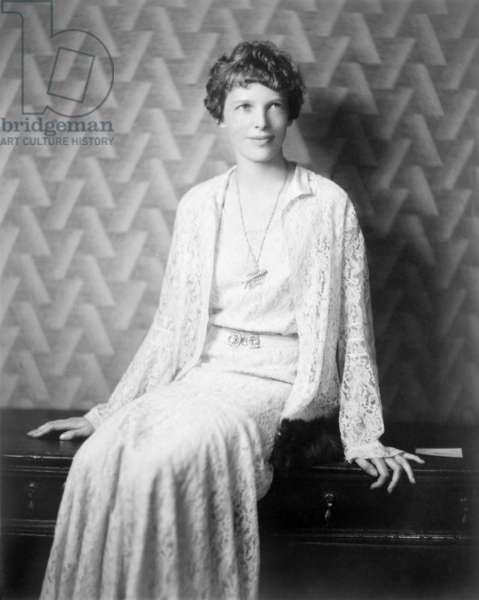 Amelia Earhart (1897-1937), 1932 portrait by E.F. Foley