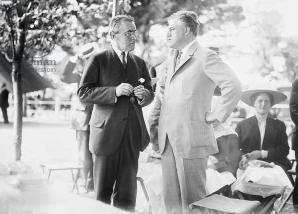 New Jersey Governor Woodrow Wilson (1856-1924), with A. Mitchell Palmer (1872-1936), a political ally who was helped Wilson win the 1912 Democratic presidential nomination. Palmer would be named Wilson's attorney general in 1919