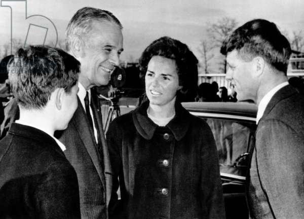 Joseph Kennedy, U.S. Ambassador General Maxwell Taylor, Ethel Kennedy, Senator Robert F. Kennedy, Washington D.C., November 26, 1964.