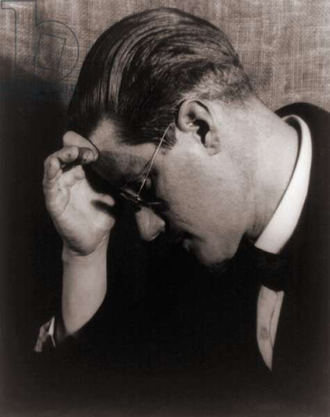 James Joyce (1882-1941), Irish writer and author of ULYSSES (1922) and FINNEGANS WAKE (1939) in 1922 portrait