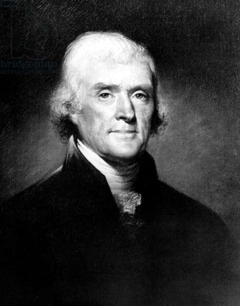 Portrait of Thomas Jefferson, by Rembrandt Peale, c. 1810s.