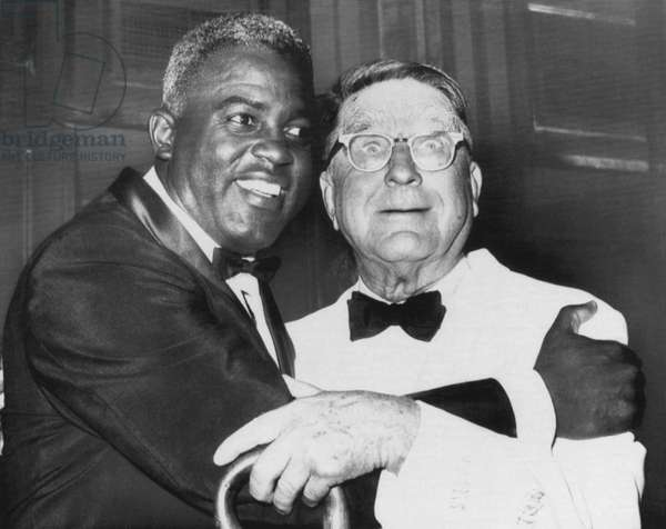 Jackie Robinson and former Brooklyn Dodgers general manager Branch Rickey, 1962