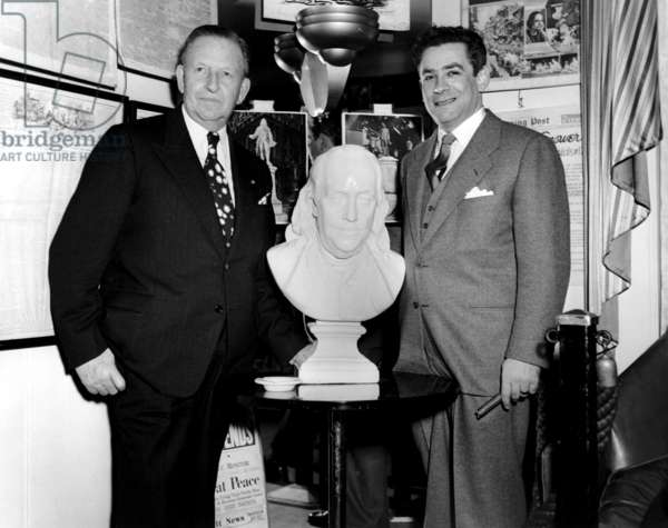 Francis Murphy, publisher of Hartford Times and Samuel Fuller, 1950s