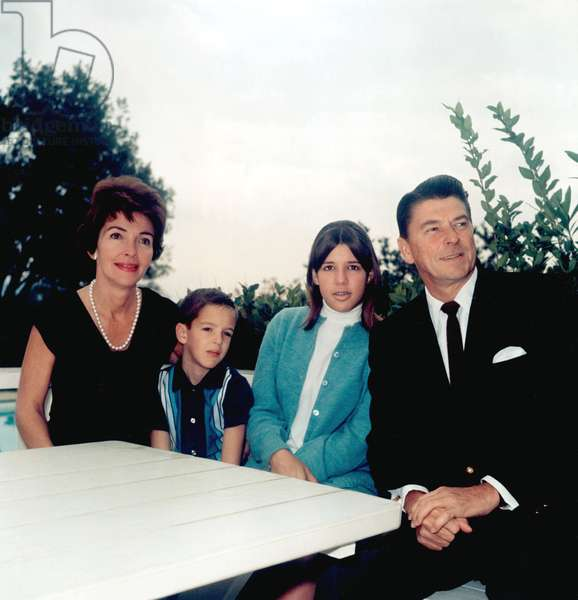 Nancy Reagan, Ron Reagan Jr., Patty Davis, Ronald Reagan