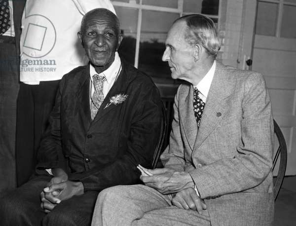 George Washington Carver signs up to do reseach at Ford Laboratories with Henry Ford, 1942